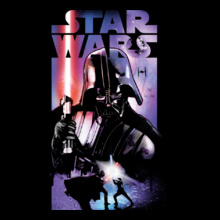 Star Wars I darth-vaderwith-Death-Star-II T-Shirt