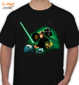luke skywalker%C joda and darth vader - T-Shirt