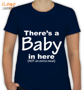 There is baby here - T-Shirt [F]