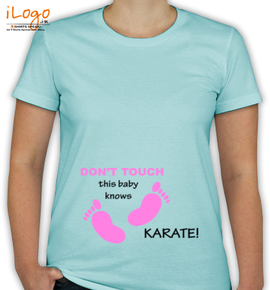 Don%t Touch baby knows karate - T-Shirt [F]