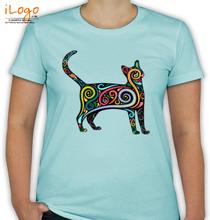 CAT Colourful-cat T-Shirt