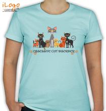CAT Obsessive-Cat-Disorder T-Shirt