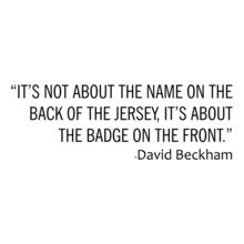 Manchester United David-Beckham-Quote T-Shirt