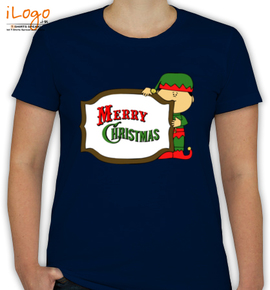 Elf merry christmas sign - T-Shirt [F]