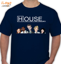 House MD House-MD-Cast-Animated-character T-Shirt