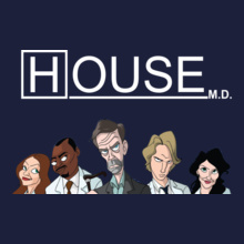 House-MD-Cast-Animated-character T-Shirt