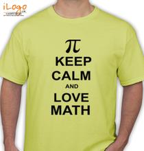 Maths KEEP-CALM-LOVE-MATH T-Shirt