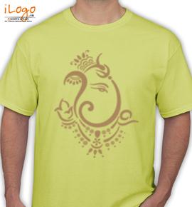 ganesha-tribal - T-Shirt