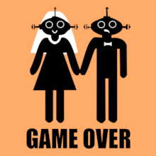Bachelor Party game-over-robots T-Shirt