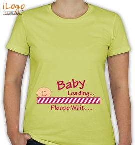 Baby Loading Please Wait Women%s - T-Shirt [F]