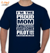Proud-mom-Of-a-pilot T-Shirt
