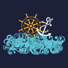Indian Navy Anchor-and-wheel T-Shirt