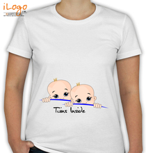 Peek a boo Twins-Inside T-Shirt