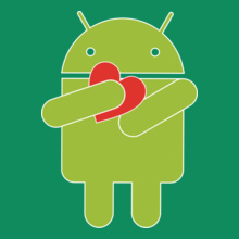 ANDROID Android-Heart T-Shirt