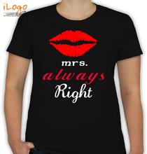 Couple mrs-alwaysright T-Shirt