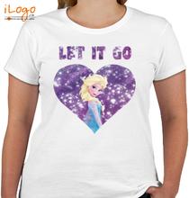 Elsa let-it-go-heart T-Shirt