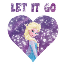 Elsa let-it-go-heart T-Shirt
