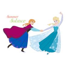 Sisters summer-solstice-anna-%-elsa T-Shirt