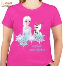 Group crystal-snowfall-elsa T-Shirt