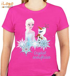 crystal-snowfall-elsa - Girls T-Shirt