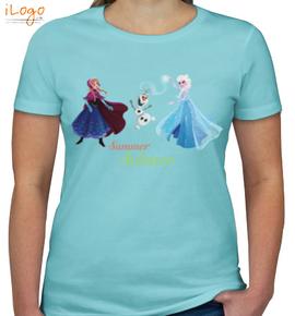 olaf-elsa-summer-solstice - Girls T-Shirt