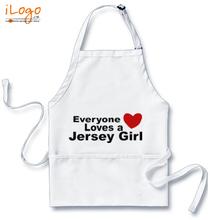 Popular Aprons everyone-loves-a-jersey-girl T-Shirt