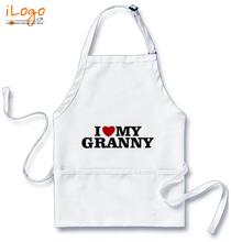Popular Aprons i-love-my-granny T-Shirt