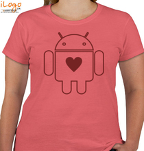 ANDROID Androids-Heart T-Shirt