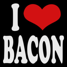 Valentine's Day i-love-bacon- T-Shirt