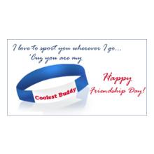 Friendship Day coolest-buddy-friendship-band-card T-Shirt