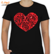 Friendship Day Floral-Heart T-Shirt