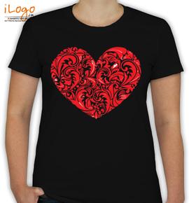 Floral Heart - T-Shirt [F]