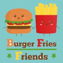 Friendship Day kawaii-burger-and-fries- T-Shirt