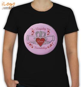 Loyalty Love Friendship Claddagh Pink - T-Shirt [F]