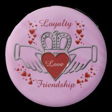 Loyalty-Love-Friendship-Claddagh-Pink T-Shirt
