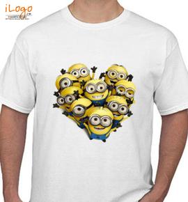 minions heart - T-Shirt
