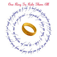 Lord of the Rings ring-text T-Shirt