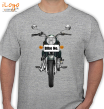 Bike Numbered Royal-Enfield-Personalised-Bike T-Shirt