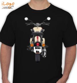Black Royal Enfield Personalised - T-Shirt