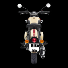 Bike Numbered Black-Royal-Enfield-Personalised T-Shirt