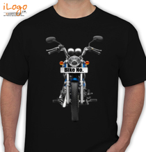 Bike Numbered Blue-Royal-Enfield-Personalised T-Shirt
