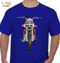 Bike Numbered Red-Royal-Enfield-Personalised T-Shirt
