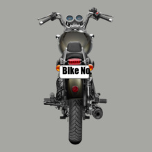Bike Numbered Royal-Enfield-Personalised-bikers T-Shirt