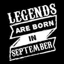 LEGENDS-BORN-IN-septembr T-Shirt