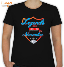 Legends are Born in November legends-are-born-november T-Shirt
