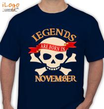 Legends are Born in November legends-are-born-in-November..- T-Shirt