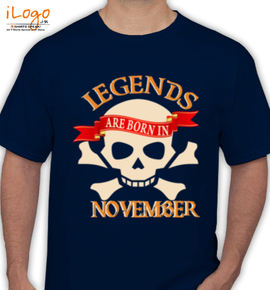 legends are born in November..  - T-Shirt