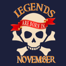 legends-are-born-in-November..- T-Shirt