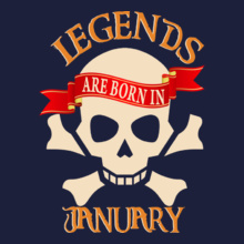 Legends are Born in January Legends-are-born-in-january T-Shirt