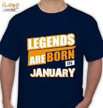 Legends are Born in January Legends-are-born-in-January% T-Shirt